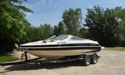 20 Ft 2005 Glastron GX 205 (10 passenger max) 141.8 low hour usage. Comes with tandem swing tongue trailer, cover, skis and inflatables. One owner boat. Has been stored in garage. Purchased and winterized at Wichita Marine. Equipped with Volvo Penta 5.0