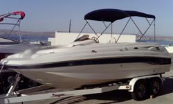 2003 Chaparral 210 Sun Deck, 21', Has a Volvo SX outdrive, w/5.0 liter V8 engine, Bimini Top, Extra Large Swim Step with Ladders front and rear, Stereo, and trailer with a swingaway Tounge. For more info call Lonnie at 562-253-4072 or Office 928-453-2300