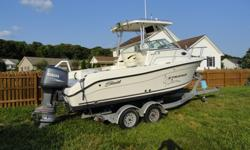 "Sea Swirl Striper 21'6"" walk around Cabin with head.Optional Hardtop includes rocket launchers and full curtain enclosure.Powered by 2004 Yamaha 150 with low hours. Package also includes a 5 Starr galvanized dual axle roller trailer w surge brakes. Great"