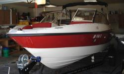 2012 Bayliner Fiberglass Boat for sale! 17ft 10 inches. 4 cylinder engine. Comes with 2012 Kara trailer with fold in tongue. All lifejackets, accessories, and Big Bertha Tube is included. The boat is in beautiful condition and has only been used for less