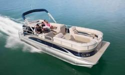 """Construction ¨ 22' Length - 8 1/2' Wide ¨ Two ? 25"""" diameter pontoons ¨ Double Full Riser Connections ¨ Heavy duty 3"""" rub rail with bumper ¨ Heavy duty C-channel crossbeams ¨ 16"""" OC crossbeam spacing ¨ Corner castings all four corners ¨ Extra heavy duty"""