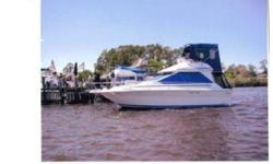 The Sea Ray 300 Sedan Bridge has wonderful interior accommodations; she?s built on a wide-beam (12?), and a modified-V hull with propeller pockets to reduce her draft (2?6?). Her interior is very spacious for a boat this size, with a mid-cabin stateroom