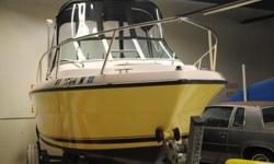 This 21 foot 1990 Pursuit, model 2150, is currently located in indoor storage in Pawtucket, Rhode Island. SEA NILE is in absolutely showroom condition and belies her 21 years of age. In 2008 her owner had new Awlgrip applied in Fighting Lady Yellow, and
