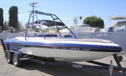 TURN KEY ! GREAT DEAL! Laser performance boat. 22' Vision open bow. Similar to its sister company Essex boats. This boat has been used in fresh water only 207 hrs,on a 250hp 5.7L Mercruiser stern drive, always covered when not in use. The Vision has