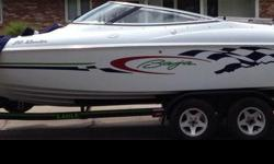 *Excellent condition!!*21ft.*5.7 liter merc cruiser*All brand new Kicker stereo*2 brand new covers (soft, and button top)*New carpet on the floor*New leather*Never been stored outside*281 Hours*Extras included-lifejackets & tubes