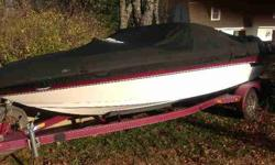 Boatmate drive on tandem trailer..no ballast...have new carbon tower needs to be mounted., 500 hrs dependable smooth runnerube, kneeboard, ropes and lifejackets incl..minor scratches, good interior..will deliver.MOTIVATED upgrading to an ocean goer!!,
