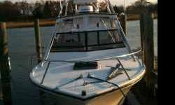 275 Sport Fisherman with many upgrades, including 3 batteries, ICOM radios, new trim tabs & pump, new trim cylinders & pumos, new blower system, new jackshafts (09/2010?, new outdrive - bearings, bellows, joints (2010). Starboard engine