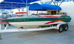 Open Bow, Bimini Top, Extended Swim Steps, Power Engine Hatch / Sun Deck, Tilt Steering Wheel, AM FM CD, Dual Batteries w/ Switch, Cup Holders, Ski Locker, 300 HP Mercruiser 350 Mag MPI, Bravo Three Dual Prop Drive w/ SS Props, Pop-Up Cleats, Cover and