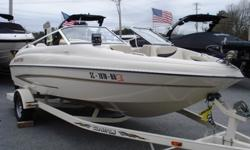 Super cool 18.5 foot Fish and Ski Boat that is a regular bowrider and COMPLETELY transforms into a legitimate fishing boat. This boat truly does it all with options like a full sun pad in the back, depth finder, fish finder, foot controlled trolling