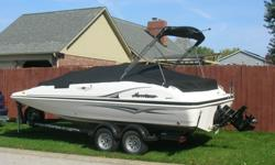 Deck Fish &Ski boat 4.3 mercury inboard motor Tubes,ropes,cooler,knee board and life jackets included
