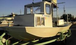 21' Custom Skiff , Very well made Custom Skiff , Pilot House , Elect Winch , Picken Box , Large fantail , All Welded Alum , 115hp Johnson Outboard , All Welded alum Painted Trailer , for more info call Ruben A Ramos at or e-mail
