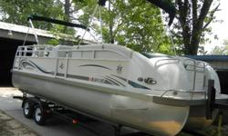 Great family fun and priced to sell!! Retiring from the water. Please do your research on JC Pontoons. This boat has it all. Powered by a 2003 Mercury 135 Optimax with SS prop. Low hours. Maintained in both dry storage and on boat lift under cover at the