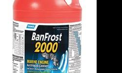 Camco BanFrost 2000 Marine Engine Antifreeze - 1 Gallon Low toxicity biodegradable engine protection. Use for winter storage of raw water cooled engines and as a permanent antifreeze/coolant for fresh water cooled systems. Replaces ethylene glycol: safer