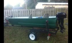 Needs little motor work to be perfect. Good river boat. Has a lot of new stuff. Trailer is good. New tires and wheels,bearings, and lights. Clean numbers and reg. Wanting something smaller.
