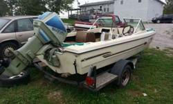 Have a fourteen feet tri hull runbout / fishing boat walk Thu windshield runs plain out good carbs might need cleaning or idle. up in a long wake zone like Taylorsville might die but start right back up 502-773-0755Listing originally posted at http