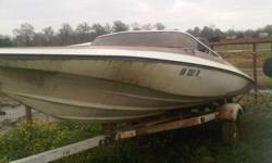16 1/2 Glastron Ski Boat w/Trailer. 115 horsepower Mercury outboard engine, shorelander trailer. Trailer just needs a paint job and last time I ran the motor it ran and that was a year ago and just needs a tune up. The inside floor that is under the seats