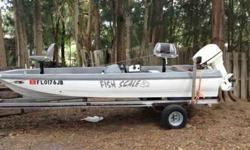 I just had motor worked on by bullfrog marina its a 40 hp vro runs like a champ . I still have a warrenty with it I have all recipts it cost me 850.00 to fix it and it has all new pumps and new seats to match the boat Im asking 1000.00 firm trailer is