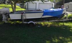 I have a 1959 19' foot Crestliner boat with a Johnson motor 35hp. awesome runner starts right up I am moveing and need more space I am selling it for 1000.00 or best offer will also trade for a four Wheeler.. Please only serious buyers! Call William at