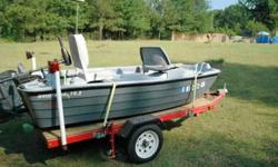 Nice 2006 Basshound 2 man bass boat 38# Minn Kota with interstate marine battery Fish Finder live well, nav light and more fishes 1 or 2 up great $1000.00 Possibly sell boat alone