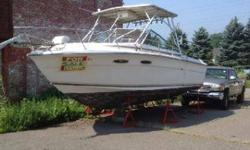 inboard outboard needs engine repair, solid hull, repowered in 2004, custom hardtop with rocket launchers, no trailer, $1000 OBO. (203) 521-7247 or (203) 913-3492 Bridgeport, CTListing originally posted at http