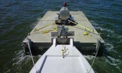 Bare/Boat lease. Barge for lease in St. Tammany, St. Bernard parishes or Mississippi Coastal Counties. 30x14x4 flat decked aluminum barge. draws 4 inches unloaded, max capacity of 30,000 lbs, rentor is responsible for pick-up and return, $1,000.00/mo,