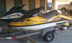 1998 Kawasaki 1100 ZXI that runs but needs fiberglass work done to the hull.Has a hole approx size of a fist. Was in the shop recently for a motortune up.I have the title and its in my nameOther jetski and trailer can be sold as well if