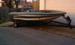 """I have a 1987, 17' 6"""" Stratos Bass boat. The power head is missing everything else is here including mid and lower units, propeller, carburetors, coils and electronics, controls, engine cover and other parts. The boat itself is solid no soft spots no"""