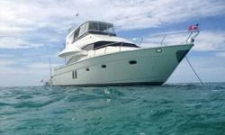 2008 Marquis 59 MARKHAM EDITION Sea Cur is a three stateroom two head layout vessel which includes many upgraded features that the present owner added. This yacht is powered by Twin MTU 825hp and has a 22kw Kohler Generator. It is also equipped with dual