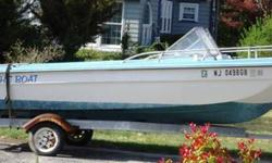 Older 18' tri hull boat - needs some TLC. Mercury 75 hp motor - runs good. Just had carburetors cleaned. Steering frozen, can be easily fixed. Trailer in good shape. Good clamming boat. See pictures for all details and current condition of boat, motor and