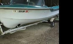For sale is a 17? 1963 Hydrodyne boat. It is in great condition for its age, including the trailer. Everything is original. Also included with the boat and trailer are reupholstered seats and side cushions. It is located near Lafayette. Asking $1100.