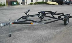 New Karavan personal watercraft (PWC) trailers. BLACK POWDER COAT FINISH! Designed to carry all two-and-three seat PWC on the market today. Construction allows a fully-adjustable winch and bunk system.As you change PWC styles you don't need to replace