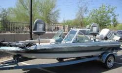 I am looking to to sell as whole part out or to see as whole it had a Mercury 150 ...NOW...it has a Johnson 120 pounds. even conpression on all cylindersV-4 90 Motor with (Excellent Working ElectricTrim on it ..Valued at $750.but itself)....this Boat