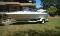 I HAVE A 99 BAYLINER CAPRI FOR SALE W/ TRAILER. IT IS 19.5 LONG, INBOARD/OUTBOARD MERCRUISER.3.0 liter 4 cyl motor that runs well and is very clean. SUPER CLEAN. BOAT INCLUDES