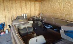 Here is a 14' 1979 Tidecraft fishing boat. The boat has seats for five people. I just replaced the transom with a nidabond transom, and it is ROCK SOLID. No worries here. Just had the boat on the water a few days ago, no leaks, engine fired right up, both