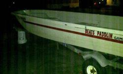 14' Gamefisher fiberglass boat. No leaks.1982 15HP Evinrude in attractive condition. Runs like new. I take out almost every weekend.Galvenized dilly trailer with attractive tires and lamps.Great little fishing boat with current tags ready for the water.