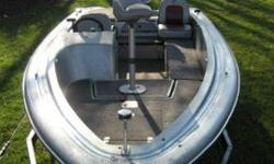 I have a 16 ft Watercraft bass boat. Boat is in very like-new condition. 3 livewells, 4 padded fishing seats, lots of storage room, lockbox under the seat, and working navigation lamps. I have never had the boat in the water. The motor is an 85hp motor.