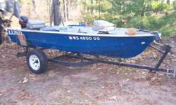 Island Maid very light fiberglass, 13' with a newer Mercury 15hp. Trolling engine, locator, battery, hand crank anchor buddy on bow,Trailer included. Live well and 2 storage.Boat kept in Adams county.414-383-8284Yeah it says Lund but it's notListing