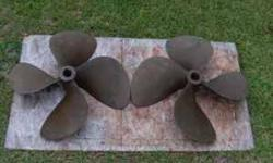 """25X28 4 Blade Bronze Props Perfect Condition 1 3/4"""" Shaft. NO TEXT If interested call 601-788-6310. Thanks ArtListing originally posted at http"""
