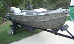 V Bottom boat with trailer and 86 motor than runs terrific looks like brand new. 870-926-0689Listing originally posted at http