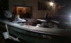 1975 fiberglass 16 ft hustler with automatic starter 1975 40hp johnson motor runs well. New tires on trailer. Good carpet in boat. New hummingbird fish finder. Great boat is lake ready. Call or txt 417 622 3188Listing originally posted at http
