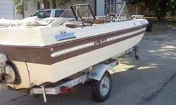 I have a 1979 Sea Sprite Sea Hawk, it has a inboard/outboard engine. It has the OMC GM 140HP engine in it. The interior is in excellent shape and the engine runs good. It has some new parts as well. All of the gauges work and the navigation lights work as