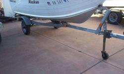 1995 13 ft Smoker Craft Alaskan, boat and trailer in terrific shape. No motor. Takes short shaft or long shaft. Tags good until 06/2013. Also comes with a depth finder.Call Mark