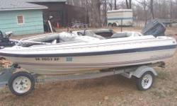 For Sale; 1985 14' Bayliner open bow runabout. 50 hp force outboard. Bow mounted trolling motor. nice trailer. Boat is in good shape, interior is fair but very useable. If interested, please call Dave at or at (click to respond) Would consider trades on