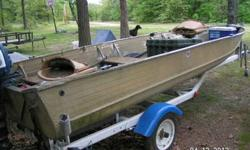 """1969 Sea Nymph 16'6"""" 10hp Evinrude Outboard with 1977 Dilly Till Trailer. trailer has new paint,tires,new spare and lights wood was replaced on all seats and two new camo seats in boat outboard need tuned up"""