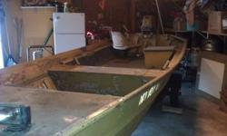 It was my Project boat, I don't have time to paint it or put a steering wheel on it. I got the title and I never put it in my name, but its legit. ANY offer may be considered as long as your not a low baller. I would definitly trade for Something like a
