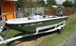 Great boat for sell. Has good hull and motor and easy to load and unload. Motor is a rebuilt 650 Mercury Lightning that really moves this little boat. Has good tire and trailer along with new carpet and good seats also includes a good battery, depth