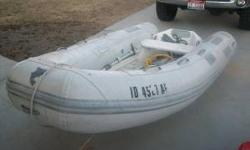 I have a 2003 10' Caribe Inflatable boat model # MVPL10 for sale. I am asking $1400 for the boat but will accept reasonable offers. The boat books for about $1000 more but i don't need the boat anymore so it needs to go to a good home. Features