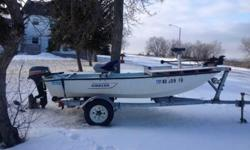 For sale 1973 boston whaler, 9 1/2 horse mariner moter and trailer. Also comes with minnkota auto pilot and aluminum front casting platform and 2 new seats. all is in great working condition. I have caught tons of fish out of this boat thru the years.