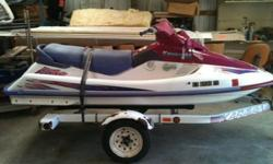 For sale 1996 Kawasaki 750 STS 2-3 person jet ski with trailer. Trailer has new tires and bearings. Great condition runs great very fast. Winter Special. $1700 OBO REDUCE to $1400 OBO