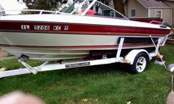 For Sale: 1986 Mach 1 17ft.New plugs, wires, points, impeller for water cooling. Electrical and mechanical are sound. Added depth finder, works well. Inline 4 inboard outboard. Seats 7 comfortably. Registered for 9. Soft spot on floor that is easily